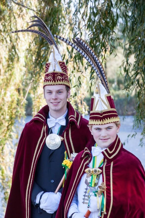 Prins Matthijs en JeugdPrins Jasper d'n Urste