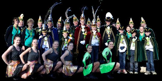 groepsfoto prins dansgarde raad van elf dames showgroep jeugdraad