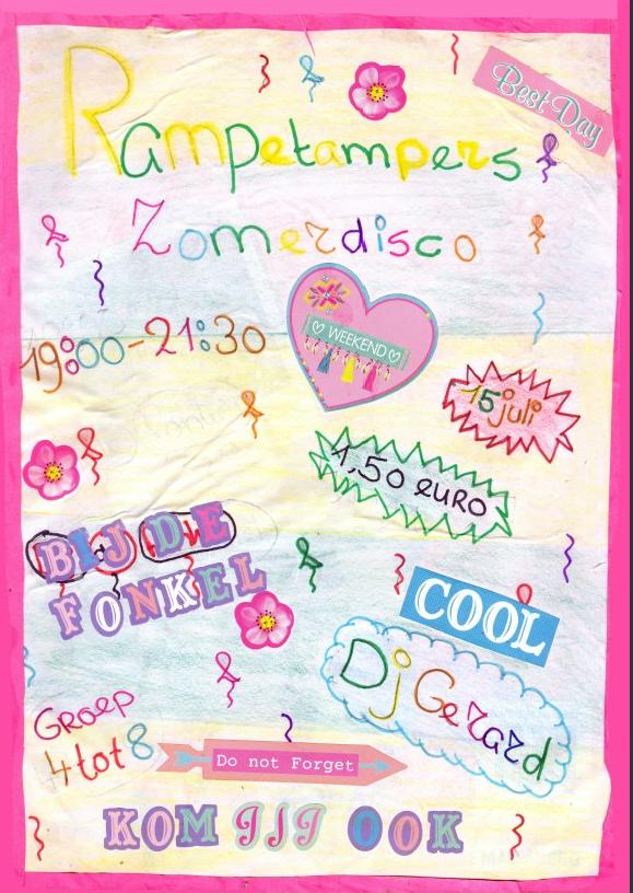 poster jeugddisco juli 2016