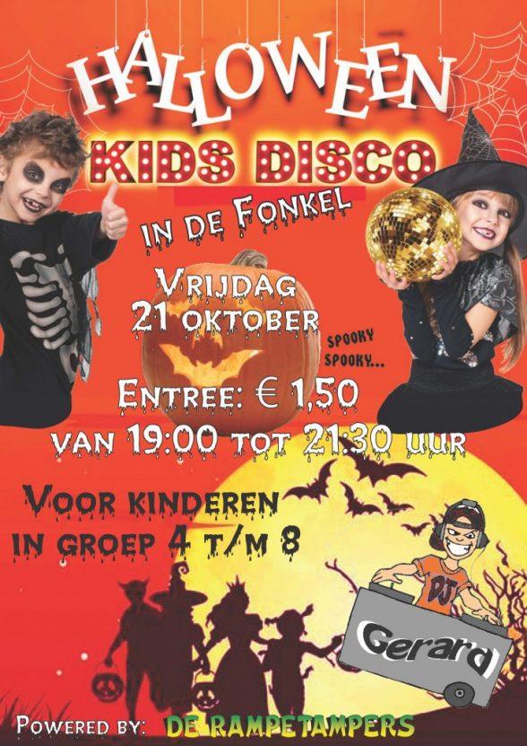 Poster halloween jeugddisco oktober 2016