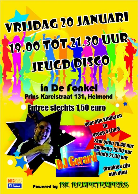 Kinderdisco januari 2017